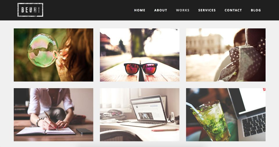 Preview of the BEUH Wordpress Theme