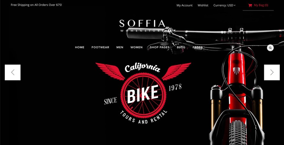 Preview of the Soffia Wordpress Woocommerce Theme