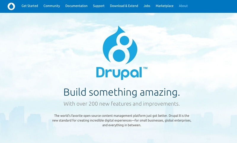 Drupal 8 Marketing Screenshot