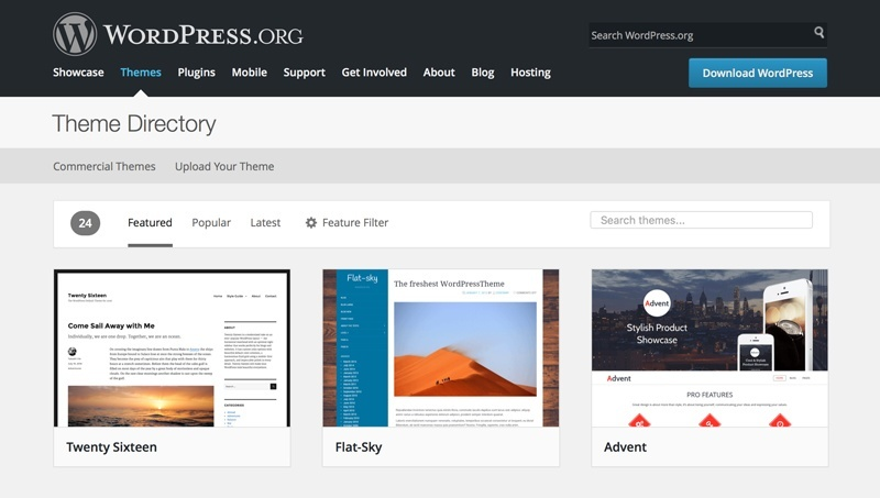 Wordpress UI Design Screenshot