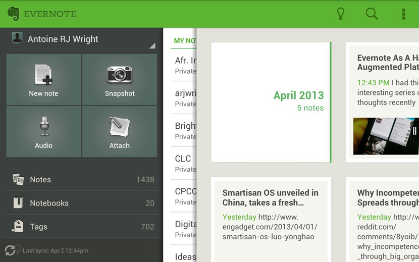 Evernote design preview