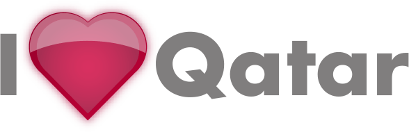 I Love Qatar Logo Design