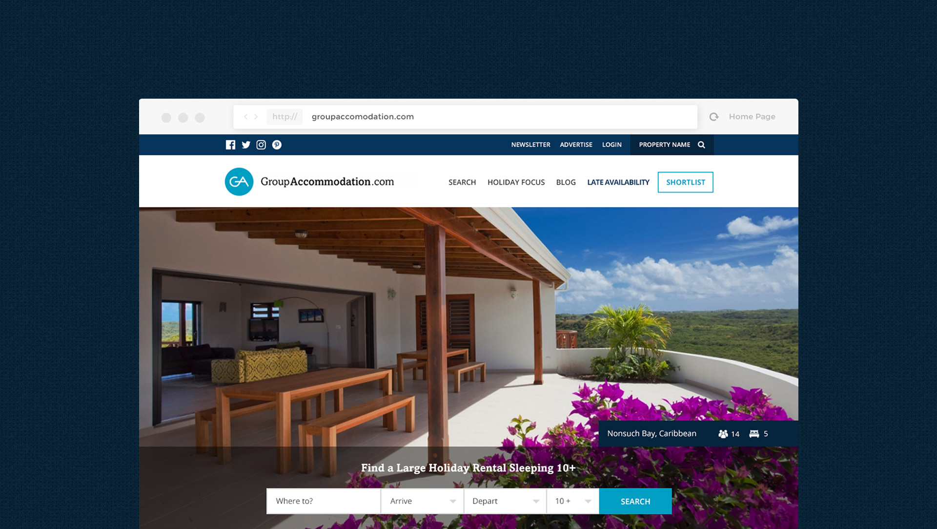Group Accommodation Responsive web design