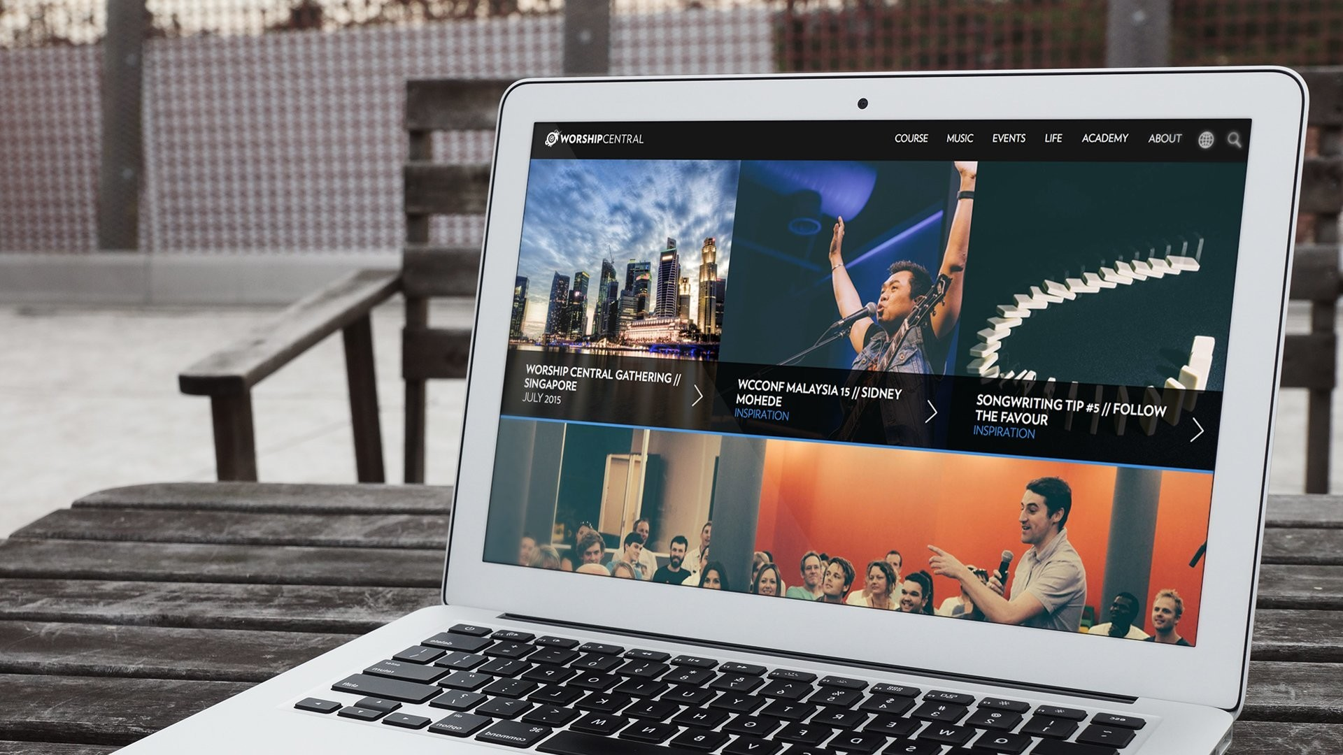 Worship Central website design